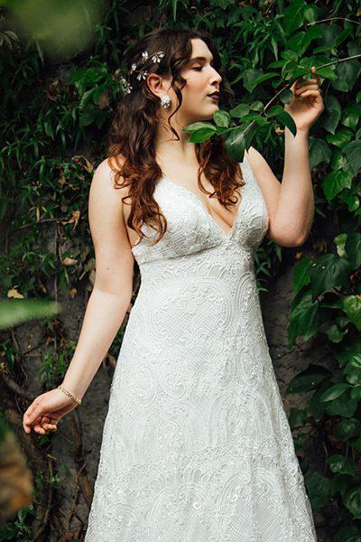 Vestido de novia de macramé