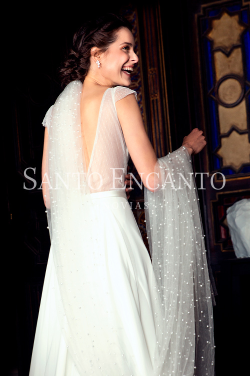 vestido de novia minimal